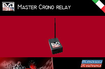Master Crono relay expands the system's coverage, about 100 m, according to the characteristics of the kart track.