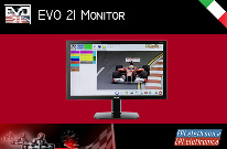 Professional monitor, for EVO 21 application, for the management of a kart track.