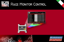 Multimedia system that permits to show the race participants, final ranking list, best race times, virtual podium and promotional messages on the monitor/TV.