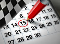 Dates and events list where to try the EVO 21 system of telemetry and speed control directly on the kart track